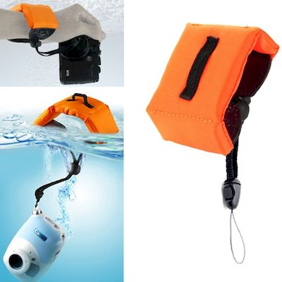 SUBMERSIBLE FLOATING BOBBER HAND WRIST STRAP ORANGE FOR GOPRO 4/3+/3/2 AND OTHER