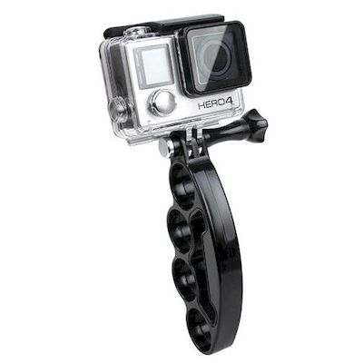 GRIP A 4 DITA CON VITE NERO PER CAMERA GOPRO HERO 4 / 3+ / 3 / 2