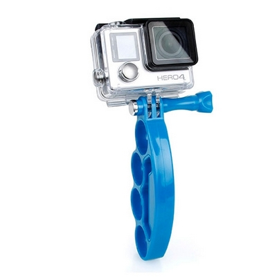 TMC KNUCKLES FINGERS GRIP WITH THUMB SCREW BLUE FOR GOPRO HERO 4 / 3+ / 3 / 2 -