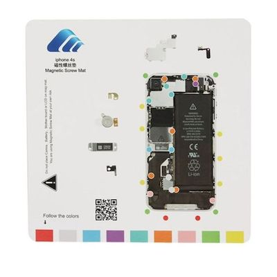 MAGNETIC SCREWS MAT 20 X 20 CM FOR DISASSEMBLE IPHONE 4S - N SHOP