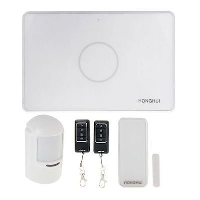 HONGHUI GSM SMS HOME SMART SECURITY BURGLAR ALARM SYSTEM WITH SENSORS