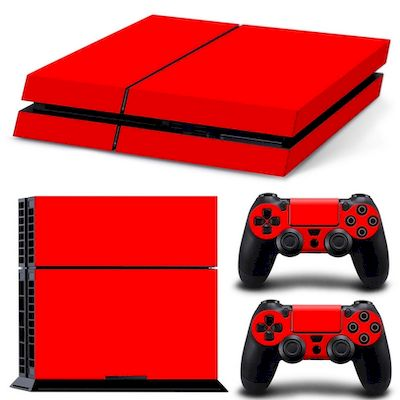 SET ADESIVI PATTERN SERIES DECALS SKIN VINYL ROSSO PER CONSOLE PS4