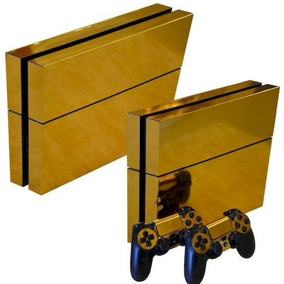 SET ADESIVI PATTERN SERIES DECALS SKIN VINYL ORO GOLD PER CONSOLE PS4