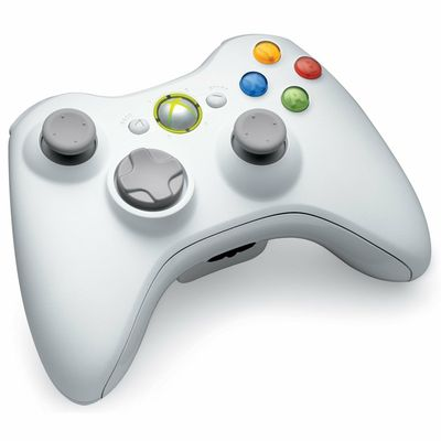 CONTROLLER WIRELESS WHITE ORIGINAL MICROSOFT FOR XBOX 360 - XBOX