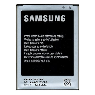 BATTERIA LITIO SAMSUNG EB-B500BE 1900MAH I9190 GALAXY S4MINI BULK