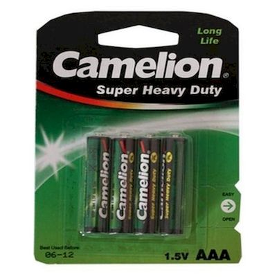 BATTERIE MINI STILO AAA CAMELION R03 4PZ