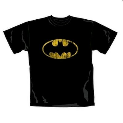 T-SHIRT MAGLIETTA BATMAN DISTRESSED SHIELD TAGLIA M
