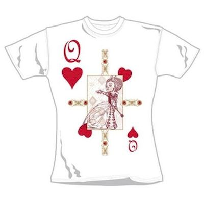 T-SHIRT MAGLIETTA RAGAZZA ALICE IN WONDERLAND TAGLIA S RED QUEEN CARD