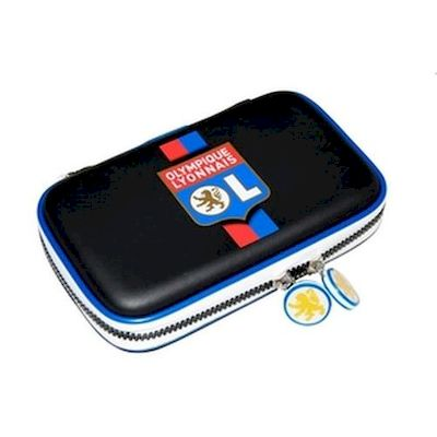 3DS / DSI / DS LITE CARRY CASE CUSTODIA OLYMPIQUE LIONE NERA TALISMOON