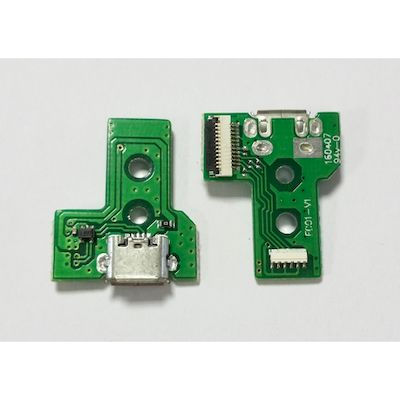 PCB BOARD 12 PIN F001-V1 WITH MICRO USB PORT FOR CONTROLLER PS4 - N SHOP