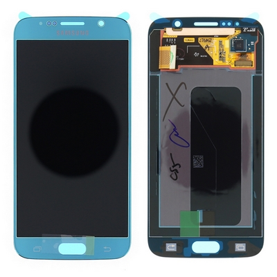 SAMSUNG GALAXY S6 G920 LCD AND TOUCH SCREEN COMPLETED BLUE