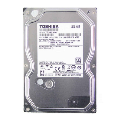 DISCO FISSO HARD DISK HD 3,5 SATA3 500GB TOSHIBA 32MB 7200RPM DT01ACA050
