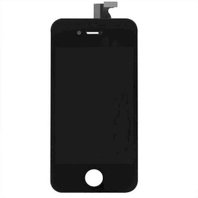 SCHERMO LCD VETRO E TOUCH SCREEN COMPATIBILE DI RICAMBIO NERO PER IPHONE 4S