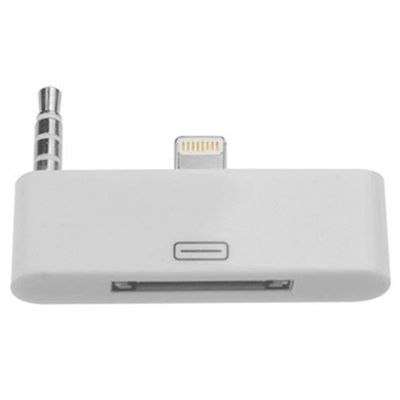 ADATTATORE DA 8 PIN A 30 PIN CON AUDIO BIANCO PER IPHONE 5 6 7
