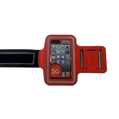 IPHONE 5 SPORT ARMBAND CASE RED - N SHOP