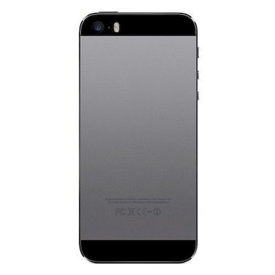 IPHONE 5 BACK COVER BLACK - NOBRAND