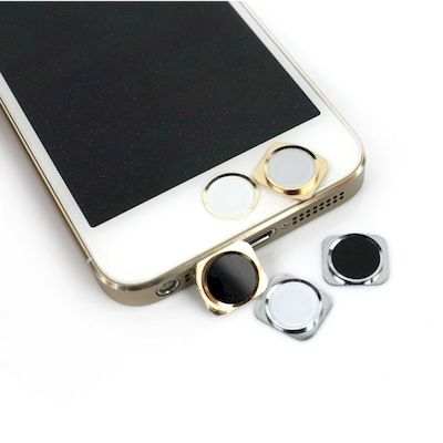 IPHONE 5 - 5C HOME BUTTON WHITE/GOLD 5S STYLE WHIT CIRCLE - N SHOP