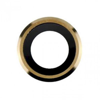 IPHONE 6 - 6S REPLACEMENT REAR CAMERA HOLDER WITH LENS GOLD - N SHOP