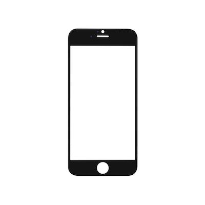 REPLACEMENT FRONT GLASS BLACK FOR IPHONE 6 - N SHOP