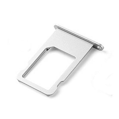 SLOT SIM CARD TRAY SILVER DI RICAMBIO PER IPHONE 6 PLUS