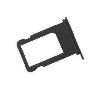 SLOT SIM CARD TRAY NERO LUCIDO JET BLACK DI RICAMBIO PER IPHONE 7