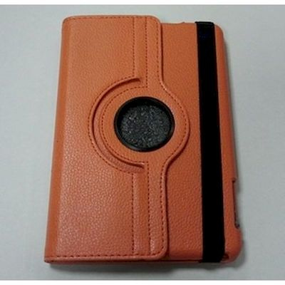 CUSTODIA A LIBRO PU CASE ARANCIO PER IPAD MINI