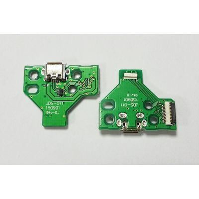 PCB BOARD 12 PIN JDS-011 WITH MICRO USB PORT FOR CONTROLLER DUAL SHOCK 4 PS4 - N