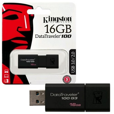 CHIAVETTA USB 3.0 FLASHDRIVE 16GB KINGSTON DATA TRAVELER DT100 G3
