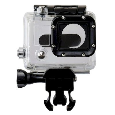 CASE PROTETTIVO WATERPROOF CLEAR PER CAMERA GOPRO HD HERO 3 / 3+ / 4 BLACK