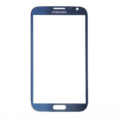SAMSUNG GALAXY NOTE2 N7100 FRONT GLASS BLUE
