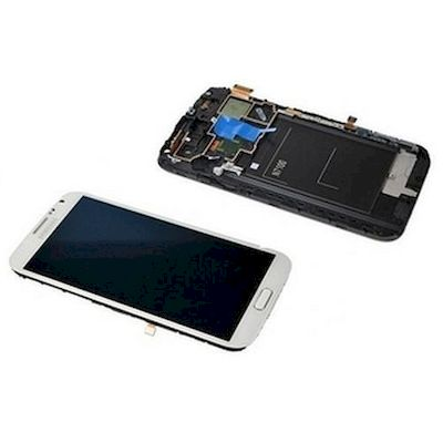 LCD TOUCH SCREEN E VETRO COMPLETO BIANCO PER SAMSUNG GALAXY NOTE2 N7105 LTE