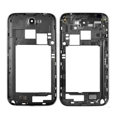 SCOCCA MIDDLE FRAME COVER GRIGIO PER SAMSUNG GALAXY NOTE 2 N7100