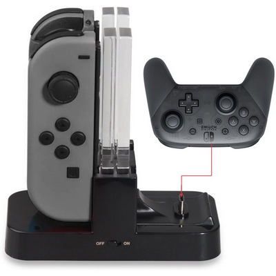 BASE CHARGING DOCK RICARICA JOY-CON E PRO CONTROLLER DOBE PER NINTENDO SWITCH