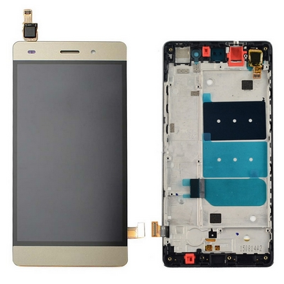 LCD TOUCH SCREEN VETRO E COVER FRAME COMPLETO GOLD PER HUAWEI ASCEND P8 LITE