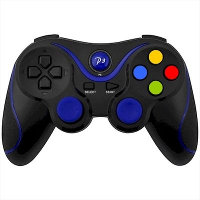CONTROLLER PS3 BLUETOOTH WIRELESS DOUBLE SHOCK 3 NERO BLU