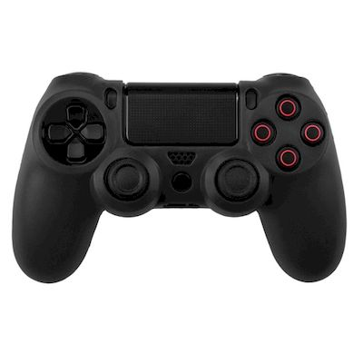 SILICON CASE BLACK FOR PS4 DUAL SHOCK 4 CONTROLLER - N SHOP