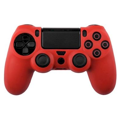 SILICON CASE RED FOR PS4 DUAL SHOCK 4 CONTROLLER - N SHOP