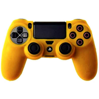 SILICON CASE YELLOW FOR PS4 DUAL SHOCK 4 CONTROLLER - N SHOP