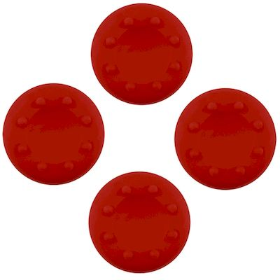 ANALOG THUMB CAP GRIPS SET RED FOR CONTROLLER PS4 - PS3 - XBOX ONE - 360 - N SHO