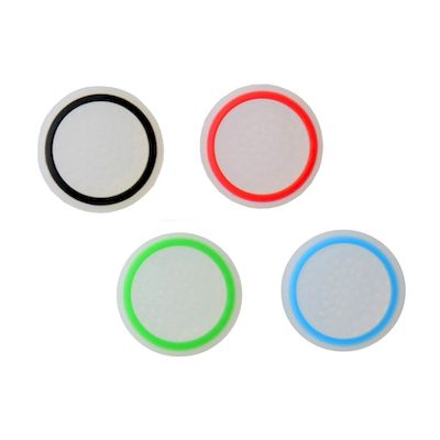 SET GRIP GOMMINI STICK ANALOGICO BIANCO/COLOR CONTROLLER PS4-PS3-XBOX ONE-360
