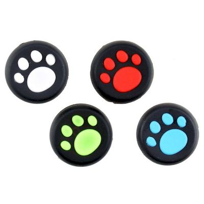 ANALOG THUMB CAP GRIPS SET BLACK/PAW FOR CONTROLLER PS4 - PS3 - XBOX ONE - 360 -