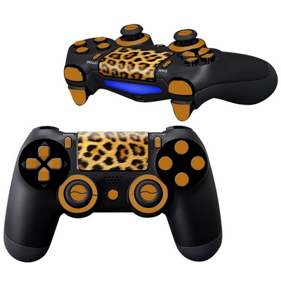 ADHESIVE DECALS SKIN VINYL STICKERS LEOPARD FOR CONTROLLER PS4 - N SHOP