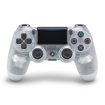 DUAL SHOCK 4 WIRELESS CONTROLLER PS4 CRYSTAL CLEAR SONY V2