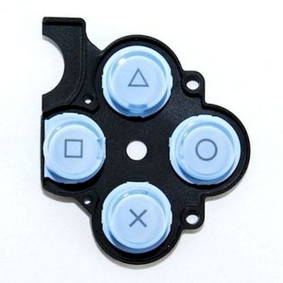 PSP 2000 KEYSTOKE WITH D-PAD RUBBER ORIGINAL SONY BLUE - SONY