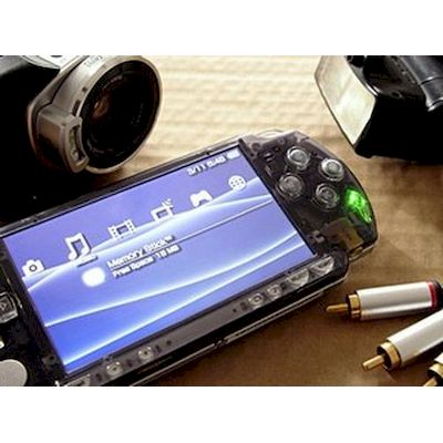 PSP 2000 COVER FACE PLATE SMOKE BLACK XCM
