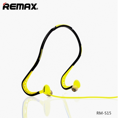 cuffie auricolari sports wired stereo headset 3,5mm remax rm-s15 giallo