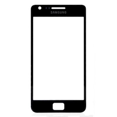SAMSUNG GALAXY S2 GT-I9100 FRONT GLASS BLACK - SAMSUNG
