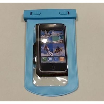 CUSTODIA SUBACQUEA WATERPROOF BAG AZZURRO PER IPHONE E SAMSUNG 4,7   POLLICI