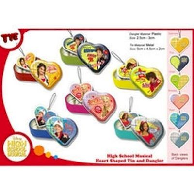 pallina gacha ball high school musical heart charms in tins