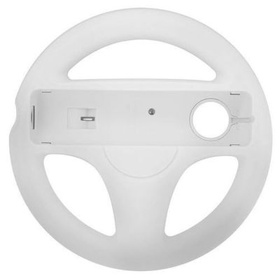 STEERING WHEEL CONTROLLER GRIP FOR WII AND WII U REMOTE CONTROLLER WHITE - N SHO